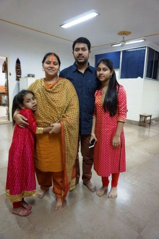 Misa Bharti with her husband and daughters