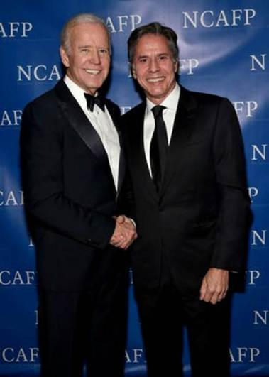 Antony Blinken with Joe Biden