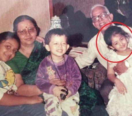 Ruchikaa Kapoor in childhood