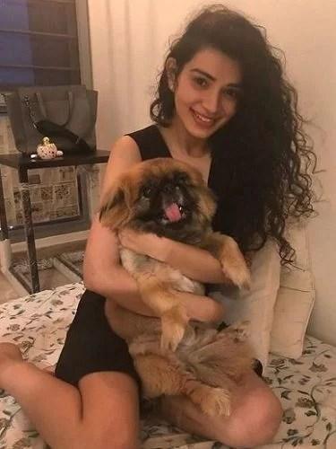 Sukirti Kandpal with her Pet Dog