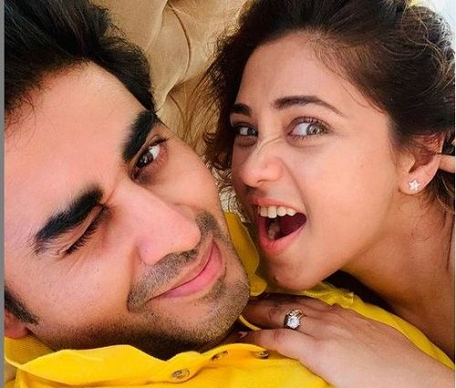 Yash Sinha and his Wife