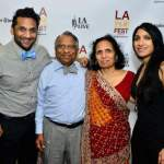 Ravi Patel with his parents and sister.