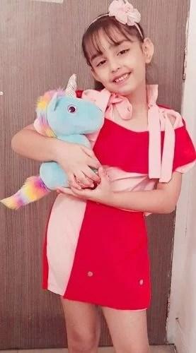 Mannat Murgai Holding Unicorn Soft Toy