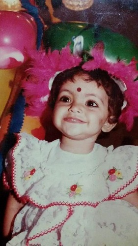A Childhood Picture of Divya Bhatnagar