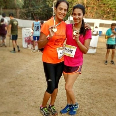 Anjali Barot with her aunt Meena Barot