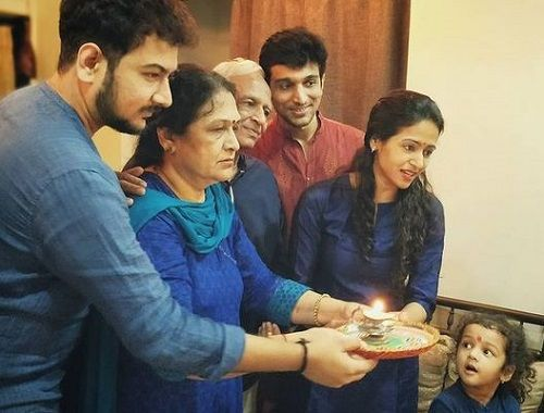 Pratik Gandhi with his Family