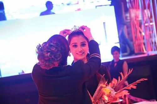 Afreen Alvi Being Crowned in a Beauty Contest