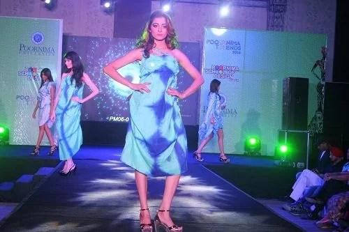 Afreen Alvi walking the Ramp in a Fashion Show