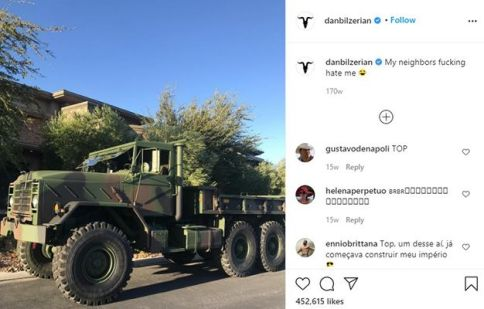 Dan Bilzerian Talking about his M35 Cargo Truck