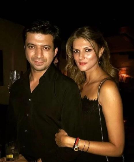 Nandita Mahtani with her brother