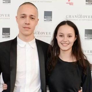 Erana James with her brother