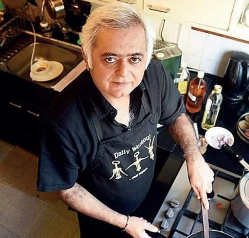 Hansal Mehta cooking food