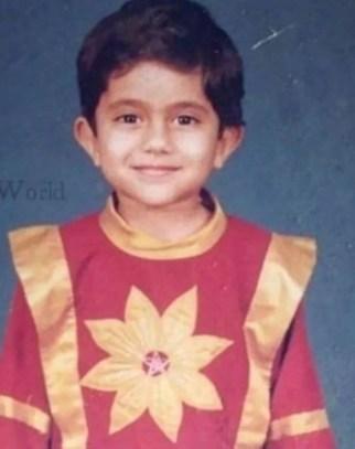 Salman Zaidi in childhood