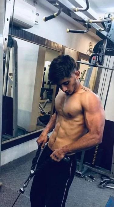 Salman Zaidi inside the gym
