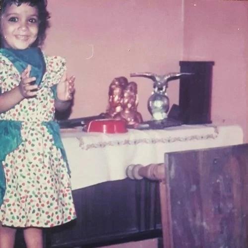 Snehlata Vasaikar's childhood picture