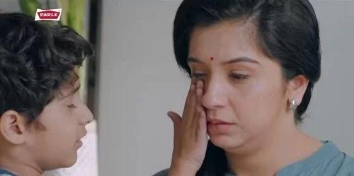 Snehlata Vasaikar in a TV advertisement