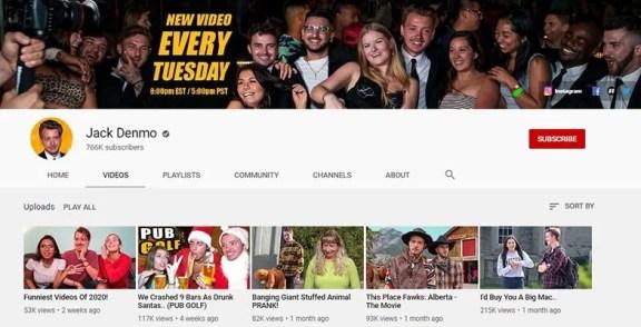Jack Denmo - YouTube Channel