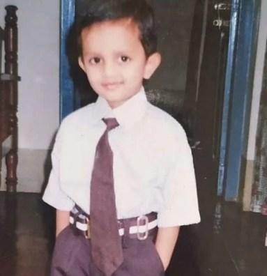A childhood picture of Vishwanath Haveri