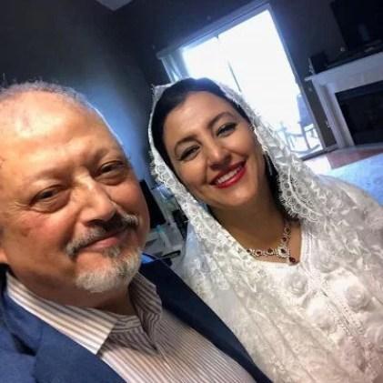 Jamal Khashoggi with Hanan Atr