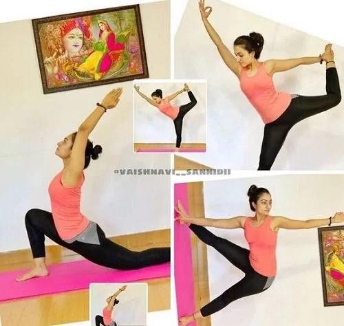 Vaishnavi Gowda performing Yoga