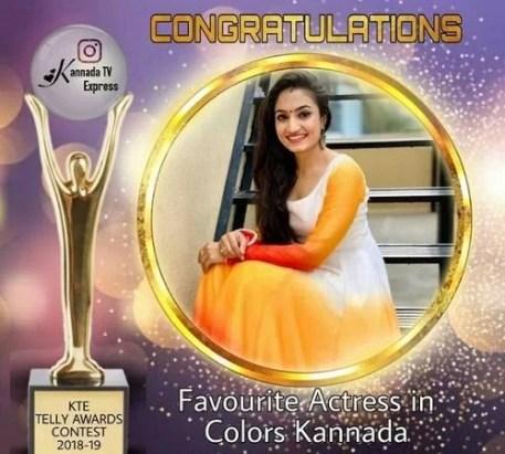 Vaishnavi Gowda- Favourite Actress in Colors Kannada 2019