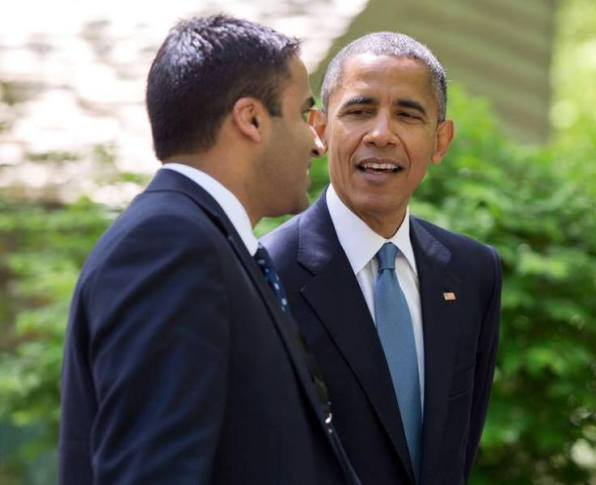 Maju Varghese with President Obama