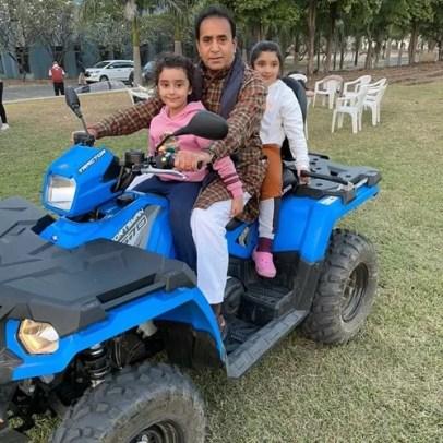 Anil Deshmukh on a vacation with his grandchildren