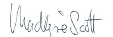MacKenzie Scott's signature