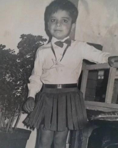 Sameer Rajda's childhood picture
