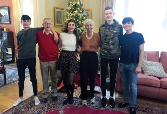 Reita Faria with her grandchildrens