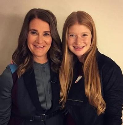 Melinda Gates with her daughter, Jennifer Gates
