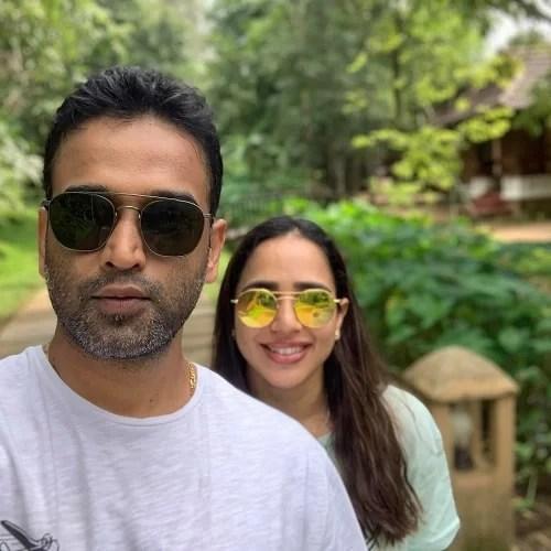 Nithin Kamath and his wife