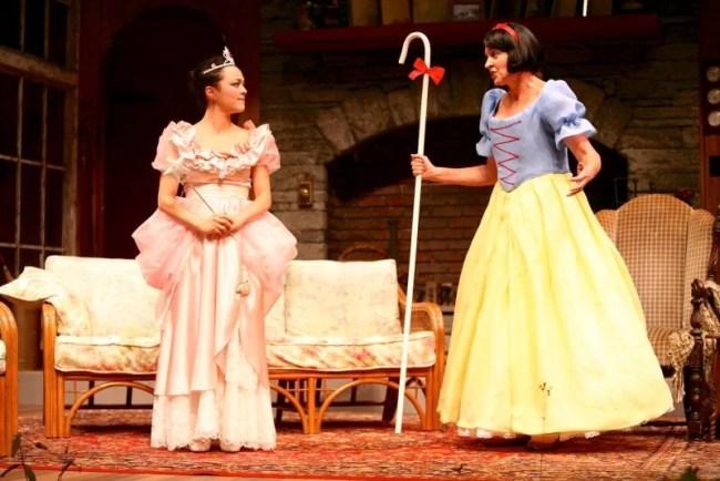 Midori Iwama as Nina (left) and Nance Williamson as Masha in the Syracuse Stage production of Vanya and Sonia and Masha and Spike (2014)