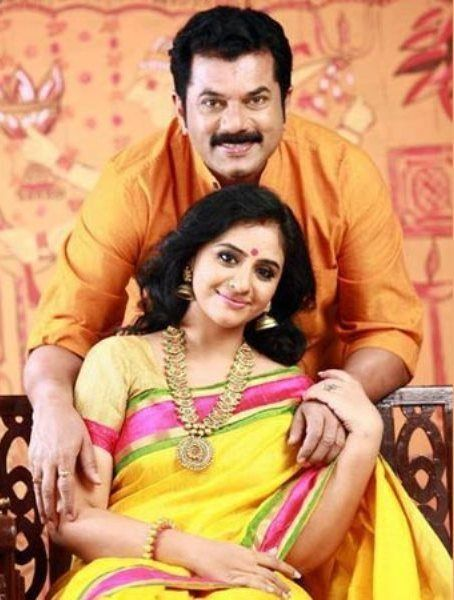 Mukesh Madhavan with his wife Methil Devika