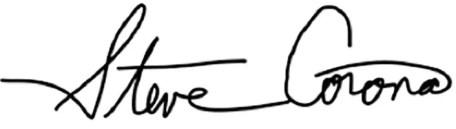 Steve Corona's signature