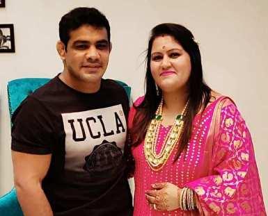 Savi Kumar with her husband, Sushil Kumar