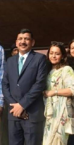 Subodh Kumar Jaiswal with his wife
