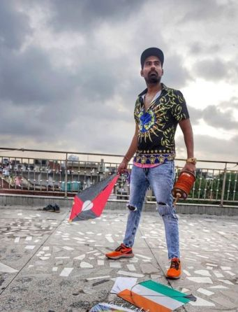 Gaurav Sharma holding a kite