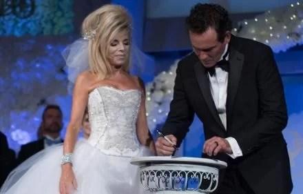 Gwen Shamblin Lara and Joe Lara on their wedding day