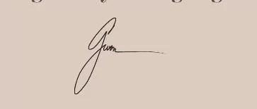 Gwen Shamblin Lara's signature