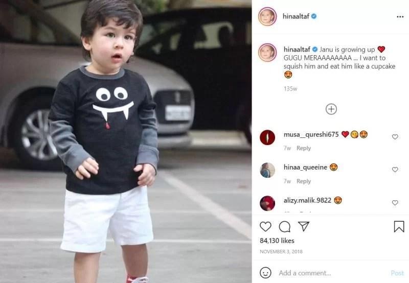 Hina Altaf's Instagram post