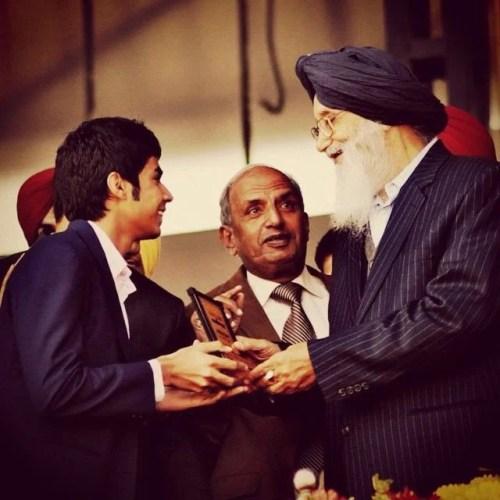Trishneet Arora receiving State Award