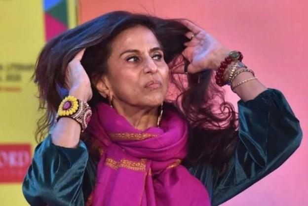 Shobhaa De during a Literature festival