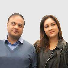 Himanta Biswa Sarma with his wife