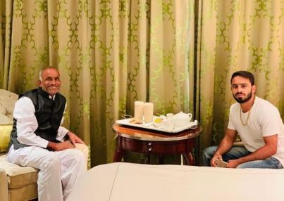 Amit Panghal with his father