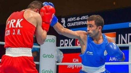 Amit Panghal in Asian Games