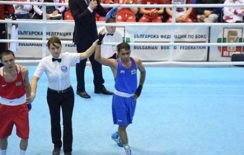 Amit Panghal as a winner at the Strandja Cup