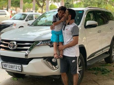 Amit Panghal with his car