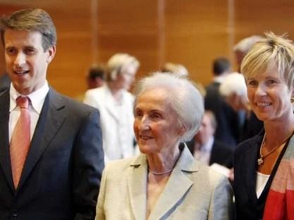 Susanne Klatten with her mother, and her brother, Stefan Quandt