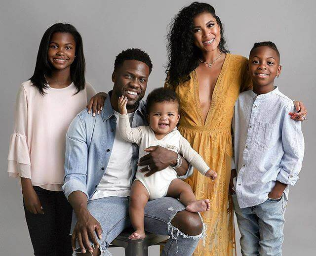 Kevin Hart Family Photo with Kids